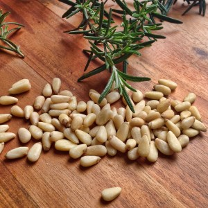 rosemary and pine nuts