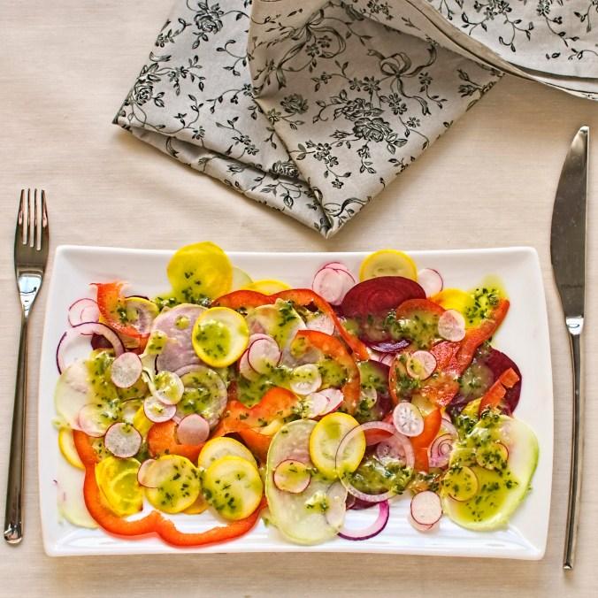 summer vegetable carpaccio