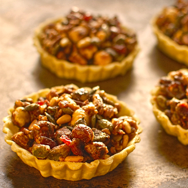 pumpkin-seed-cranberry-and-nut-tartlets