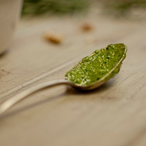 a spoonful of pesto