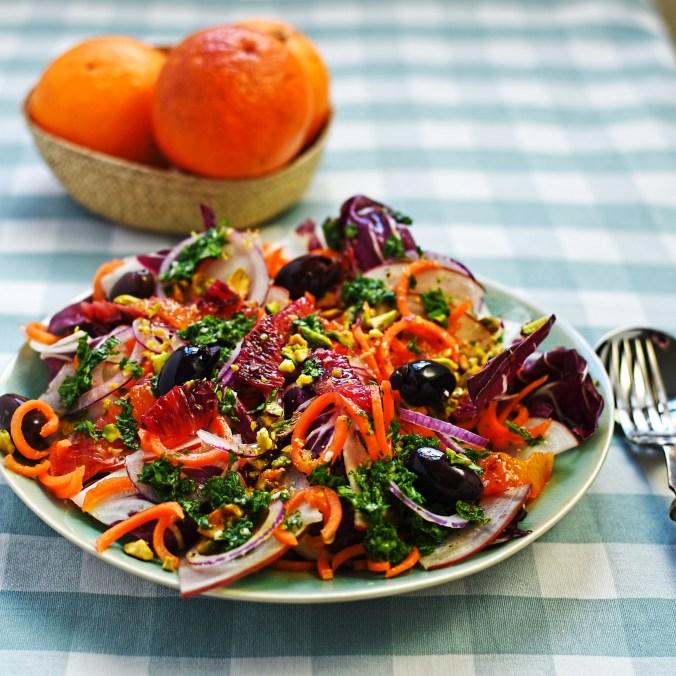 raddicchio, carrot and blood orange salad