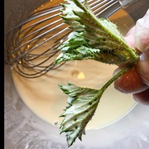 making nettle fritters