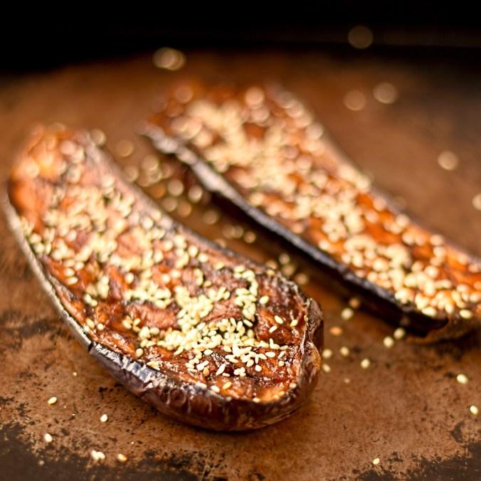 miso-and-sesame-glazed-aubergines