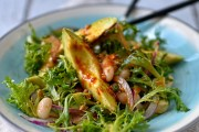 canellini bean and avocado salad with smoked paprika and garlic dressing