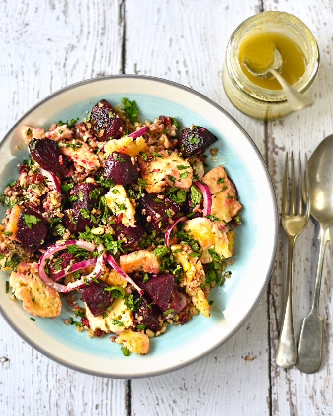 roast-beetroot-halloumi-and-freekeh-salad