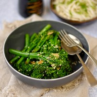 stir fried broccoli with sesame and garlic