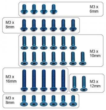 Visserie en aluminium pour Asso B5 et B5M