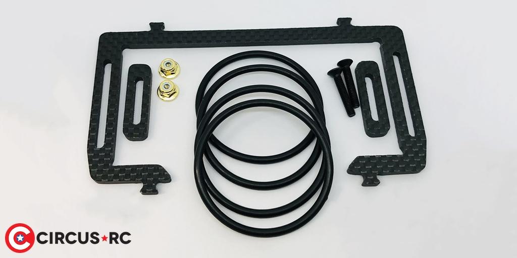 Klinik RC 1/10 buggies battery cradle & slider ride height gauge tool