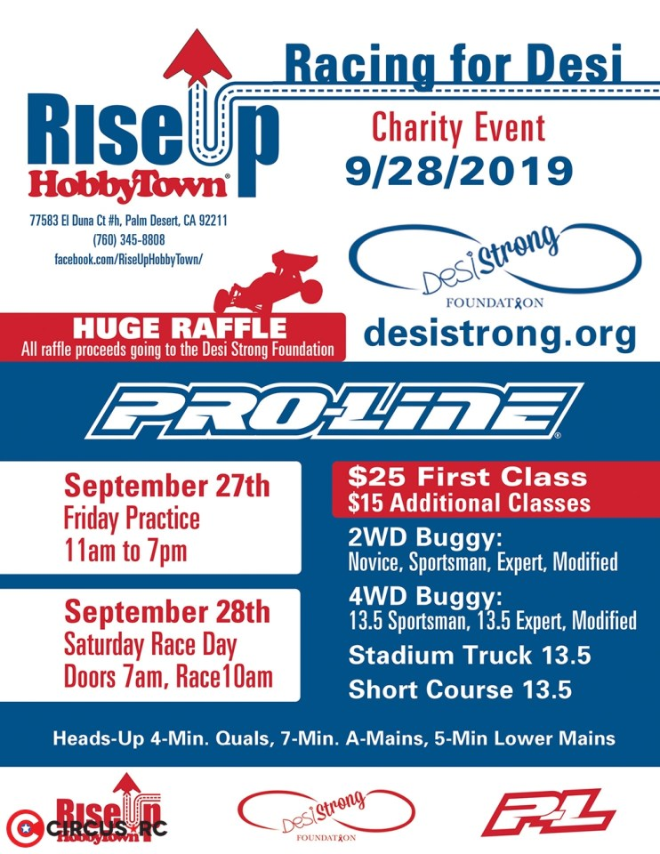 Racing for Desi charity race announcement