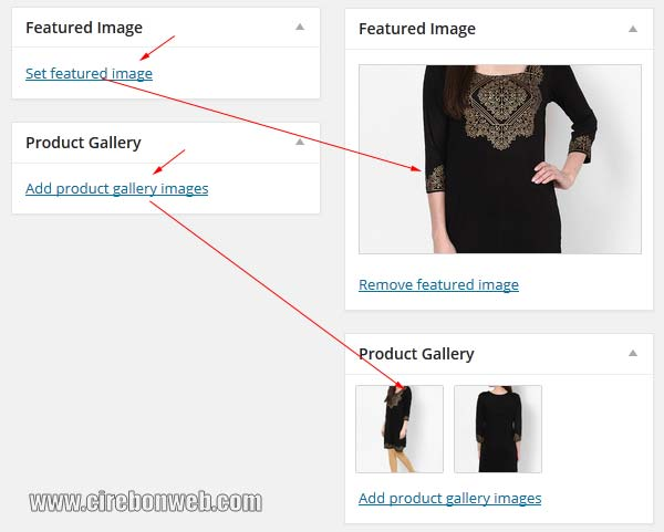 woocommerce featured image