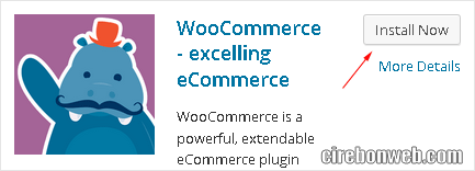 instal plugin woocommerce