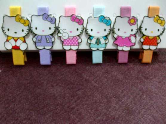 Jepit Rambut kartun seri Hello Kitty (ukuran 5,5cm)