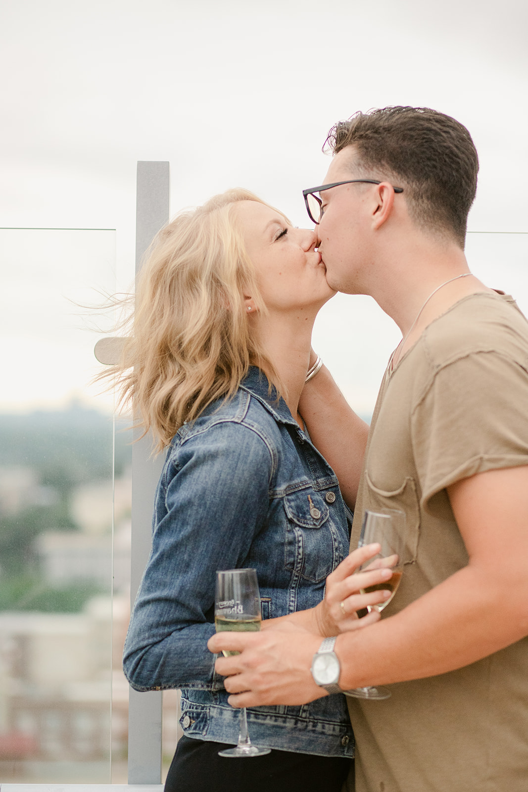 skyhouse lifestyle couple session on rooftop terrace photography
