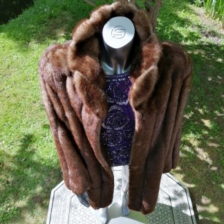 brown fake fur coat