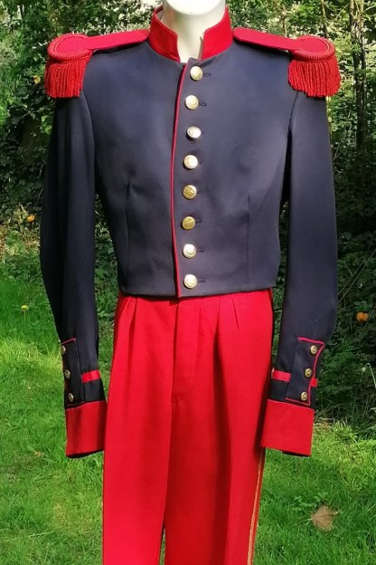 Former Military Suit, theatrical epaulettes, front suit 1