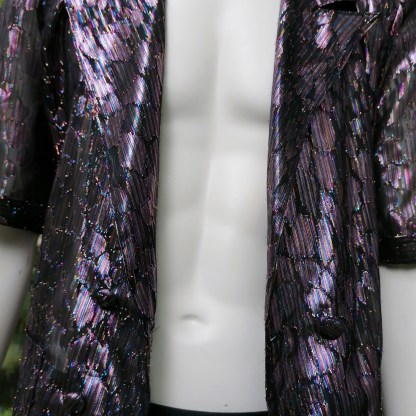 festival jacket purple glitters