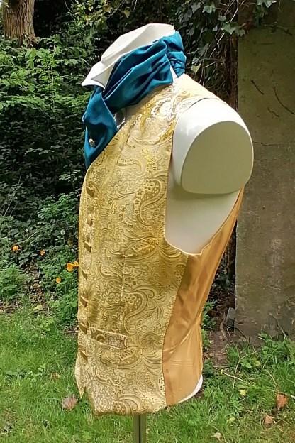 Tailored Jacquard golden Vest, side