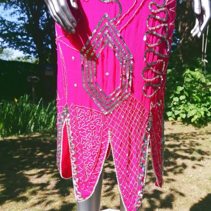 great gatsby skirt pink silver