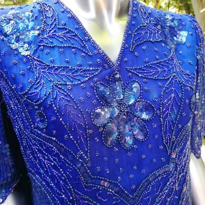 sequin shirt blue