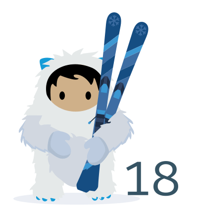 new Salesforce Winter18 logo