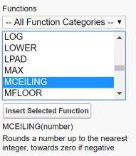 Salesforce MCEILING formula