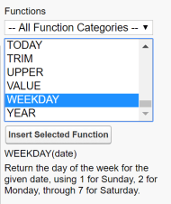 Salesforce WEEKDAY formula