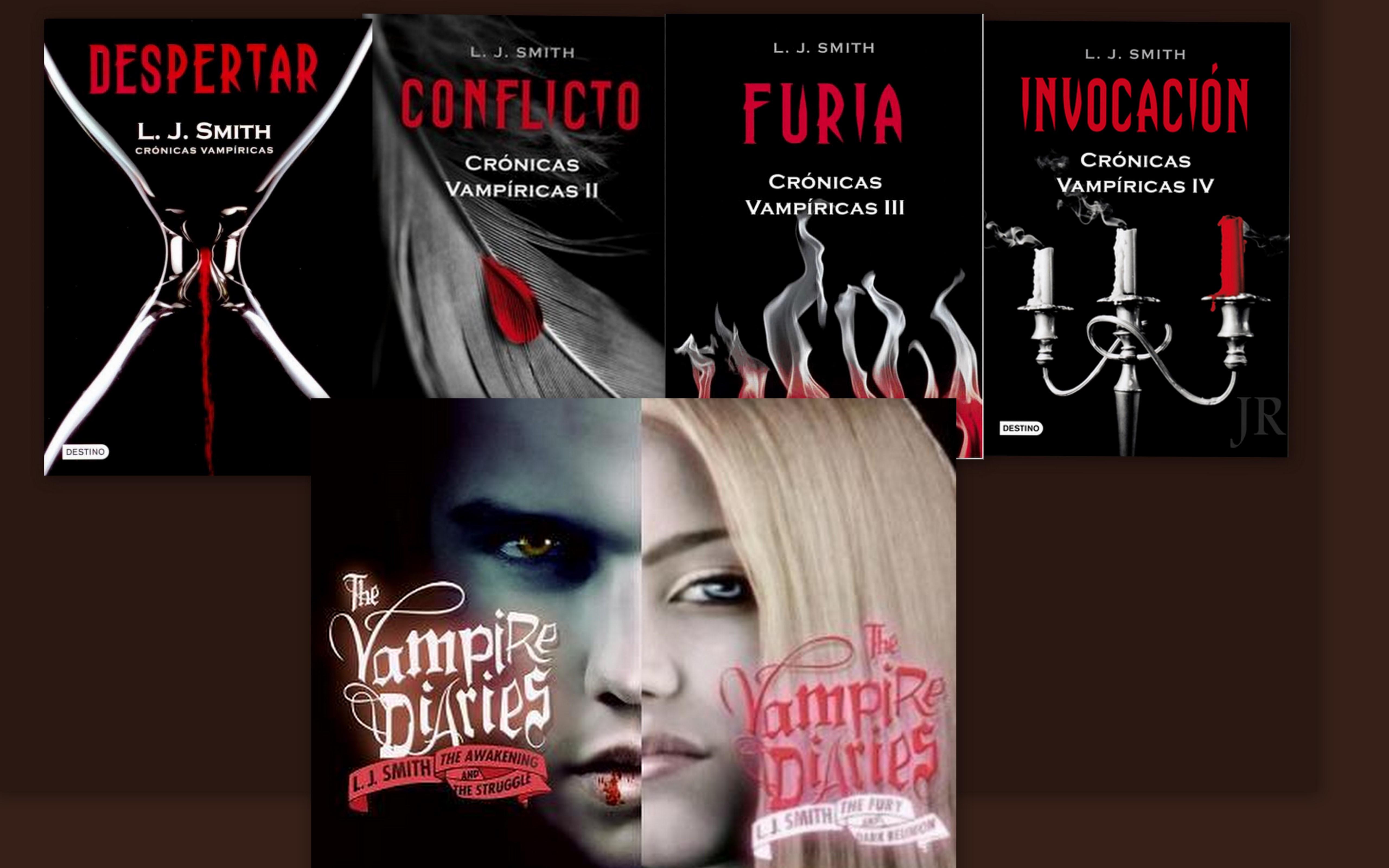 Portadas españolas y americanas de The Vampire Diaries