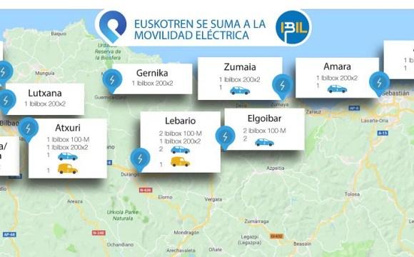 Euskotren se conecta a la movilidad eléctrica en 11 centros de trabajo de la mano de IBIL