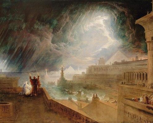 The Seventh Plague (1823 painting by John Martin). Public Domain
