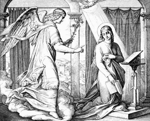 Julius Schnorr von Carolsfeld. Gabriels Verkündigung von Maria.