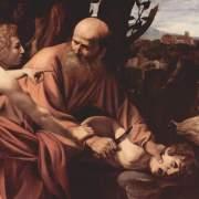 «Принесение в жертву Исаака; Караваджио»