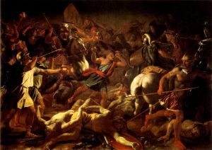 Battle of Gideon Against the Midianites. Nicolas Poussin, 1626. Vatican Museum Pinacoteca, Vatican.