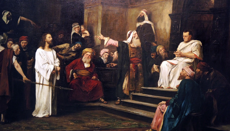 Christ before Pilate (detail) by M. Munkacsy 1881