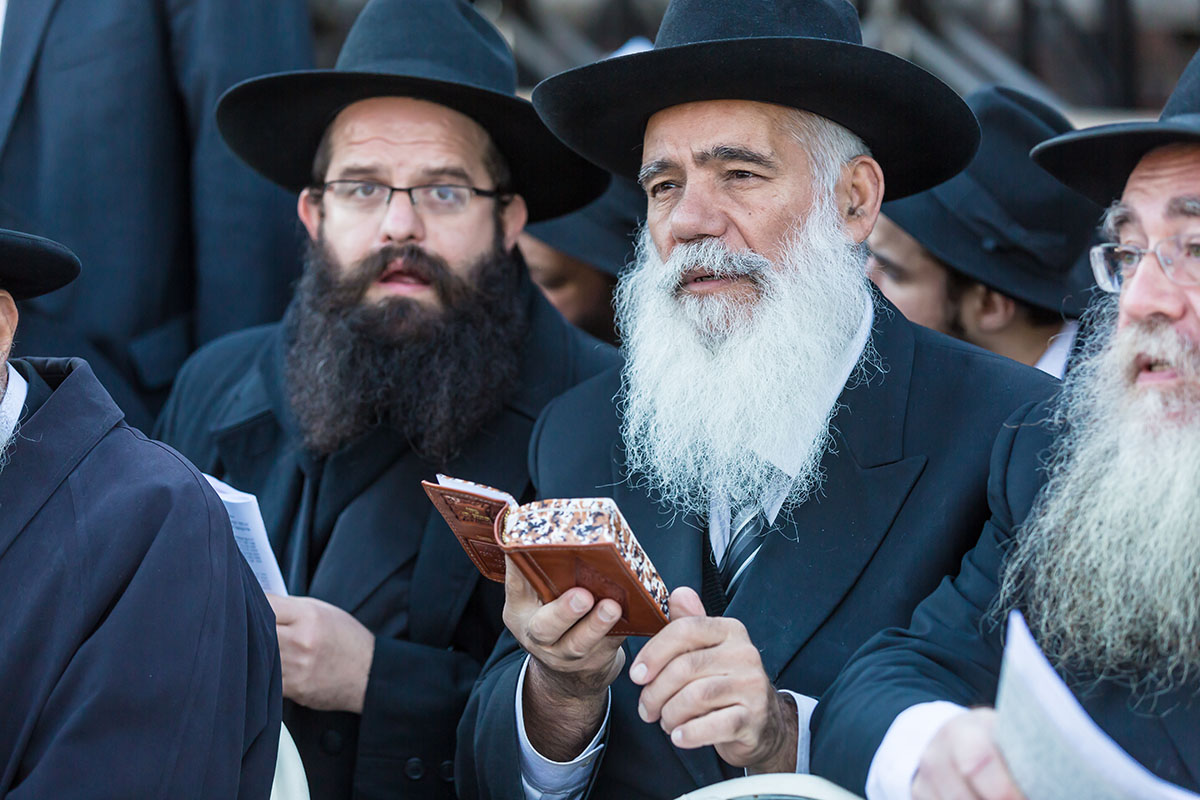 © Eliyahu Yosef Parypa. NEW YORK - NOVEMBER 8: Jewish emissaries at The Kinus Hashluchim, International Conference of Chabad-Lubavitch Emissaries, in Crown Heights, Brooklyn, NY on November 8, 2015.