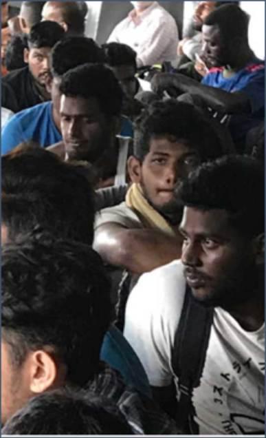 Sri Lankan migrants in southern Costa Rica en route to the U.S. border
