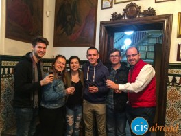 Trying Spanish Sherry on a wine and tapas tour