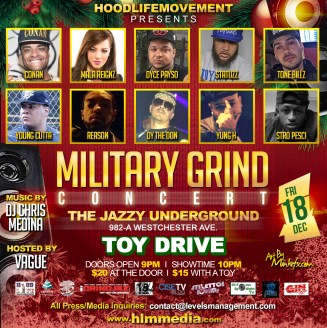 Military Grind Concert Flyer