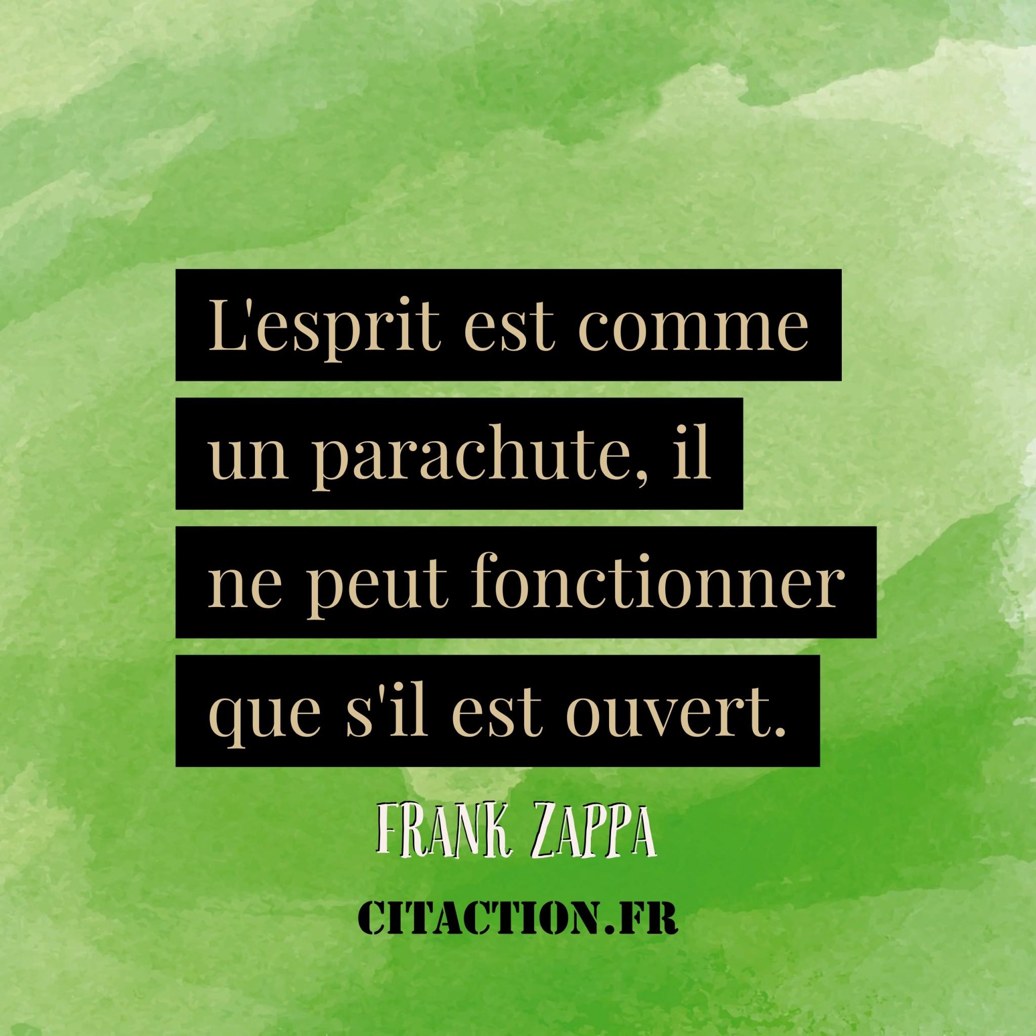 l'esprit est comme un parachute