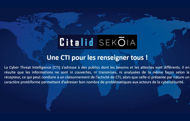 Citalid Sekoia Une CTI pour les renseigner tous