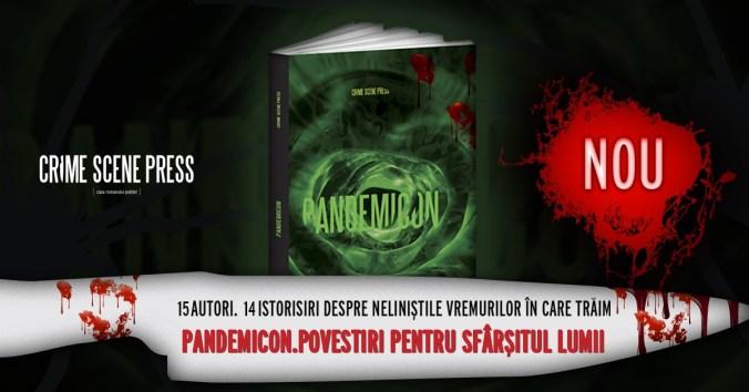 Pandemicon. Povestiri pentru sfarsitul lumii. COVER Crime Scene Press