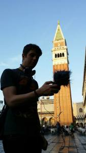Recording in St. Mark's Square