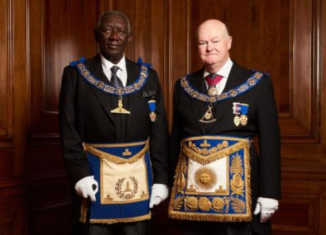 Kufuor with MW Bro Peter Lowndes, ProGM