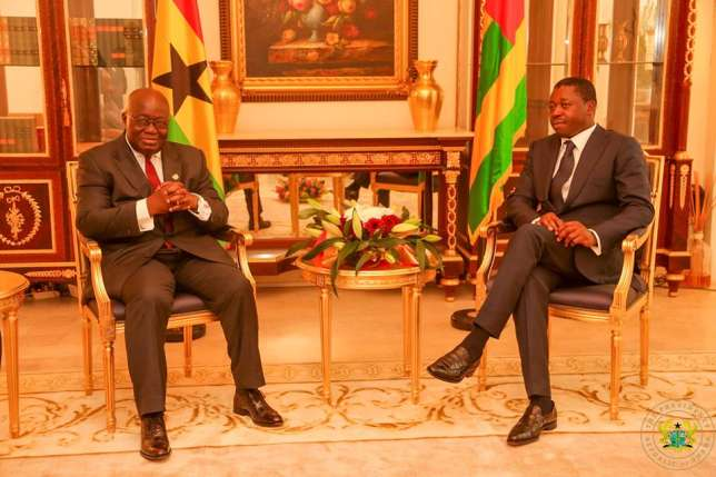 President Akufo-Addo with Togolese President Faure Gnassingbe
