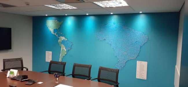 Mapa Brasil e América - Painel Magnético