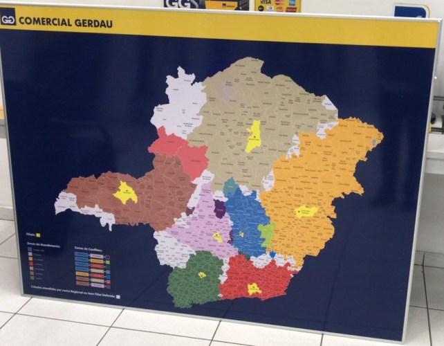 Mapa Personalizado Região de Atuação