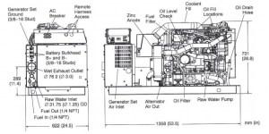 CUMMINS ONAN MDKDS 29 kW Marine Generator