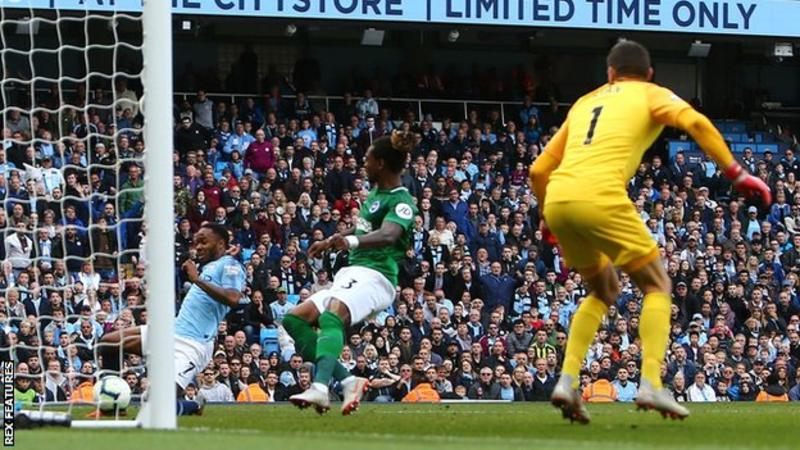Sterling and Aguero strikes send Man City top