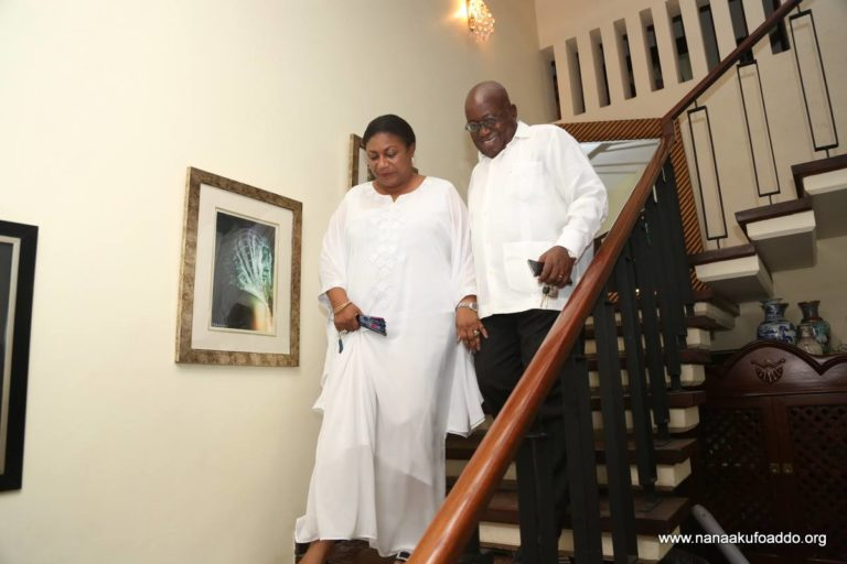 Nana Addo back home after escaping near accident on presidential jet