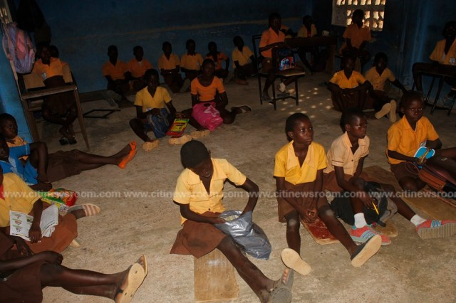 Schools without chairs; pupils of Sokabiisi in Bolga sit on bare floor