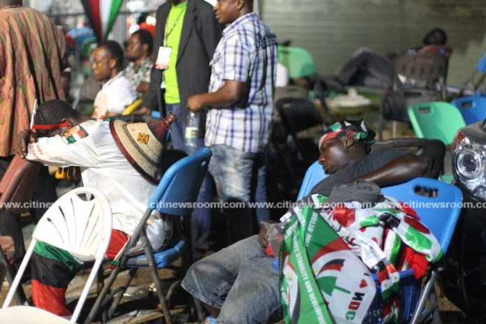 How delegates, journalists battled with sleep as NDC congress entered day 2 [Photos]
